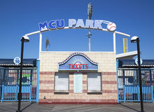 MCU ballpark ticket booth in the Coney Island section of Brooklyn Royalty Free Stock Photos