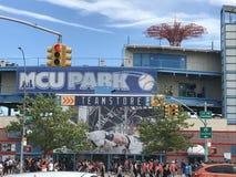 MCU-basebollarena på Coney Island i New York Arkivbilder