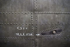MCU Detail of rivet pattern on captured USAF aircraft in Vietnam Royalty Free Stock Photos