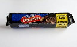 Mcvities巧克力digestives 免版税库存图片