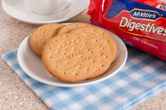 Free McVities Digestive Biscuits Royalty Free Stock Photo - 174540415