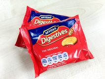 McVities digestives biscuit Royalty Free Stock Photo