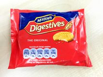 McVities digestives biscuit Royalty Free Stock Image
