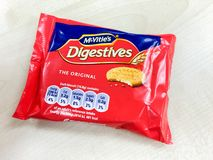 McVities digestives biskwitowi Obrazy Royalty Free