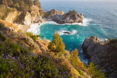 Mcway cai - estrada da Costa do Pacífico com fluxo selvagem Fotos de Stock