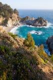 Mcway cai - estrada da Costa do Pacífico com fluxo selvagem Foto de Stock Royalty Free