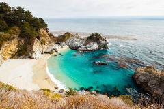 McWay Fall. Located in Julia Pfeiffer Burns State Park, California Royalty Free Stock Photos