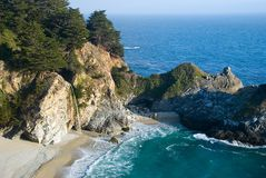 McWay Falls. Waterfall in California, near Big Sur Stock Images