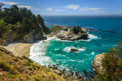 Mcway Falls beach waterfall on the Big Sur Coast of California Stock Image