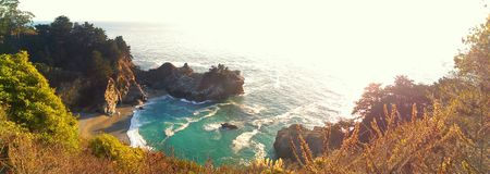 McWay Falls in Big Sur Stock Images