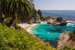 Mcway Falls in Julia Pfeiffer Burns State park Royalty Free Stock Photography