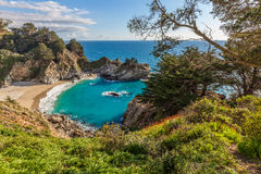 McWay Falls Landscape Big Sur Royalty Free Stock Photo