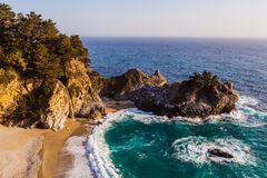 Mcway falls - Pacific coast highway. In spring royalty free stock photo