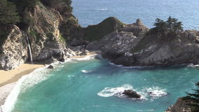 McWay Falls Scenic Landscape stock video footage