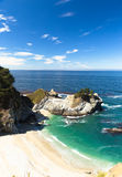 McWay Falls, Sea cliff. The famous sea cliff in high way 1 royalty free stock image