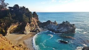Mcway falls. Waterfall beach Stock Photography