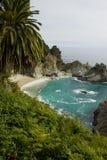 McWay nedgångar på Kalifornien seglar utmed kusten nära stora Sur Arkivbild