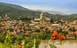 Mcxeta Христианский монастырь в Georgia стоковые изображения