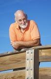mężczyzna atrakcyjny zdrowy senior Obraz Stock