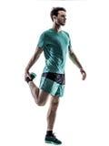 Mężczyzna biegacza jogger bieg odizolowywający Fotografia Royalty Free
