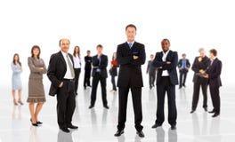 mężczyzna biznesowa wiodąca drużyna Fotografia Royalty Free