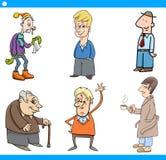 Mężczyzna charakterów kreskówki set Zdjęcia Stock