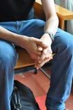mężczyzna czekanie Fotografia Stock