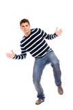 mężczyzna dancingowi przystojni potomstwa Fotografia Stock