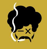 Mężczyzna dymienia marihuana Zdjęcie Stock