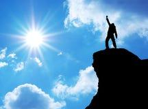mężczyzna góry wierzchołek Zdjęcia Stock