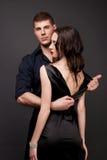 Mężczyzna i kobiety miłość. Gorąca historia miłosna. Zdjęcia Royalty Free