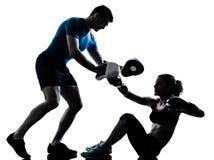 Mężczyzna kobiety bokserski szkolenie Obraz Stock