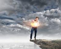 Mężczyzna magik Fotografia Stock