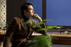 mężczyzna medytacja Fotografia Royalty Free
