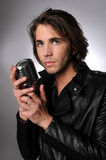 mężczyzna mikrofonu potomstwa Fotografia Royalty Free