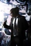 mężczyzna mikrofonu target772_0_ Zdjęcia Royalty Free