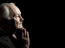 mężczyzna modlenia senior Zdjęcia Stock
