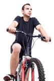 Mężczyzna na bicyklu Zdjęcia Royalty Free