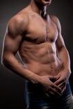 mężczyzna nagi mięśniowy Zdjęcia Royalty Free