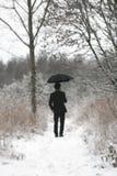 mężczyzna parasol Obrazy Royalty Free