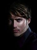Mężczyzna - piękno męski portret Zdjęcia Stock
