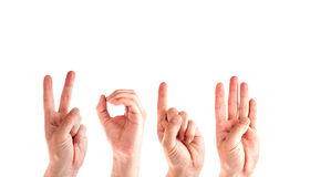 Mężczyzna ręki Tworzy liczbę 2014 Obrazy Stock