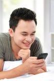 mężczyzna sms Obraz Stock