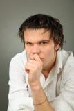mężczyzna smutny Fotografia Royalty Free