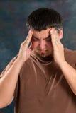 mężczyzna stresujący się Zdjęcia Royalty Free