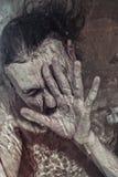 Mężczyzna tonięcie w wodzie Zdjęcie Stock