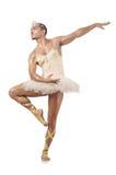 Mężczyzna w baletniczej spódniczce baletnicy Zdjęcia Royalty Free