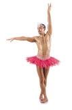 Mężczyzna w baletniczej spódniczce baletnicy Obraz Royalty Free