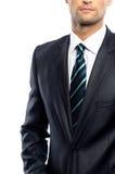 Mężczyzna w czarnym kostiumu Zdjęcia Royalty Free