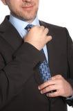 Mężczyzna w krawacie i kostiumu Obrazy Royalty Free